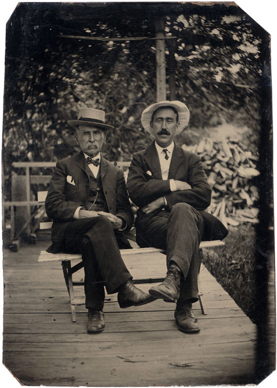 Tintype of two men