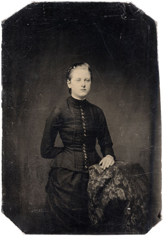 Tintype of a young woman