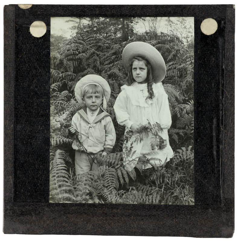 Gilbert Ellis and his Cousin in Woods.