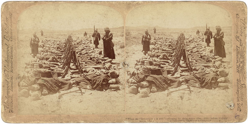 When the Cannon's roar is still - sleeping by their arms (Dec. 30th) before Colesberg, South Africa.