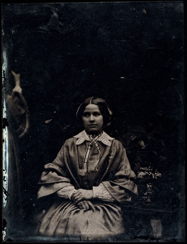 Ambrotype of a young woman