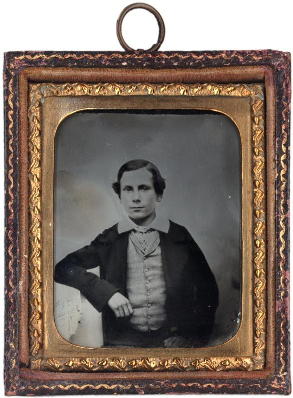 Ambrotype of a young man