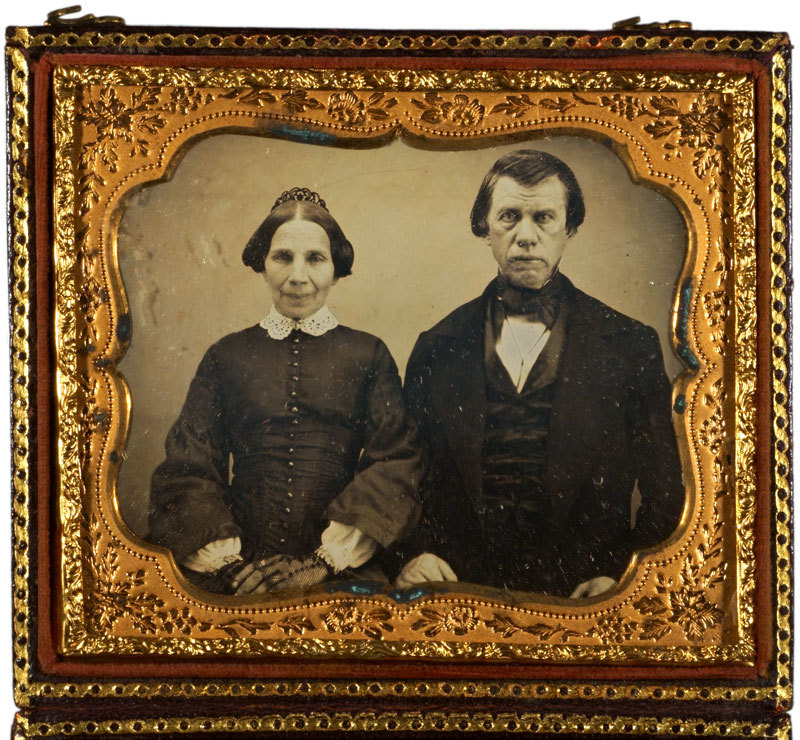 Daguerreotype of a man and woman