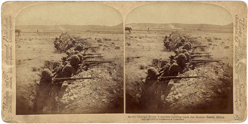 In the Orange River Trenches holding back the Boers - South Africa.