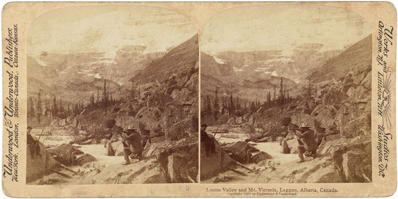 Louise Valley and Mt. Victoria, Laggan, Alberta, Canada.