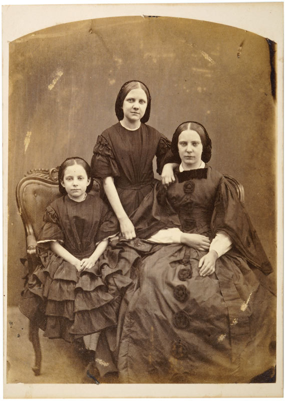 Portrait of three young women