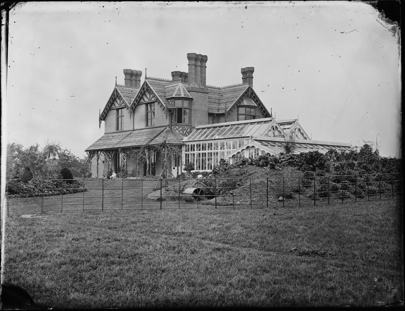 Glass Negative of a building