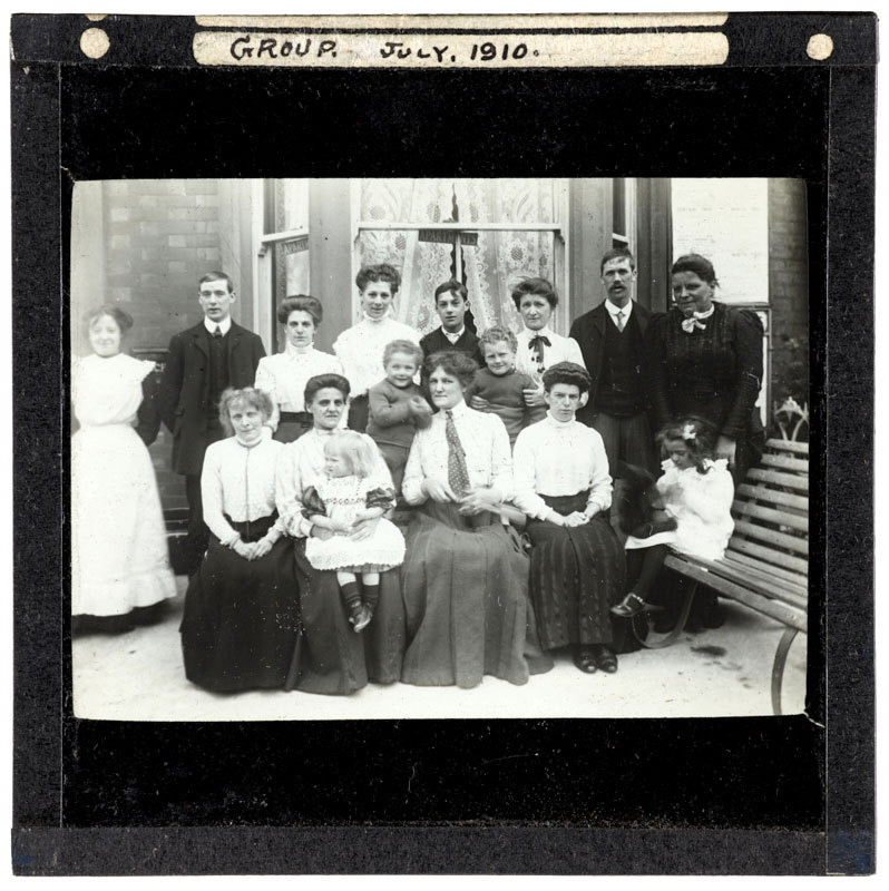 Lord Street Blackpool, Group, July 1910.
