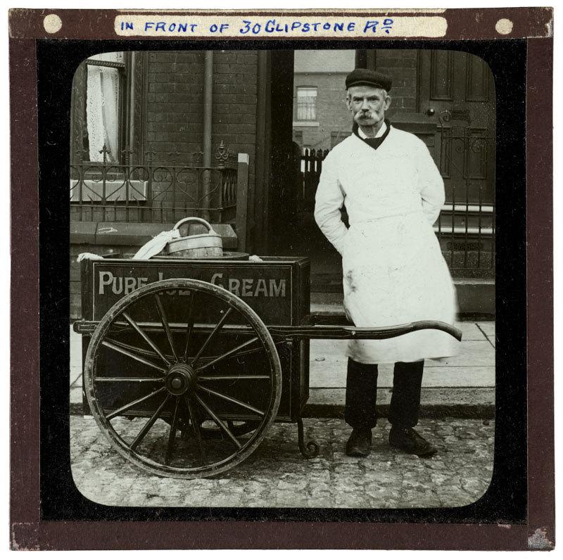 Mr Dickenson Ice Cream in front of 30 Clipstone Road