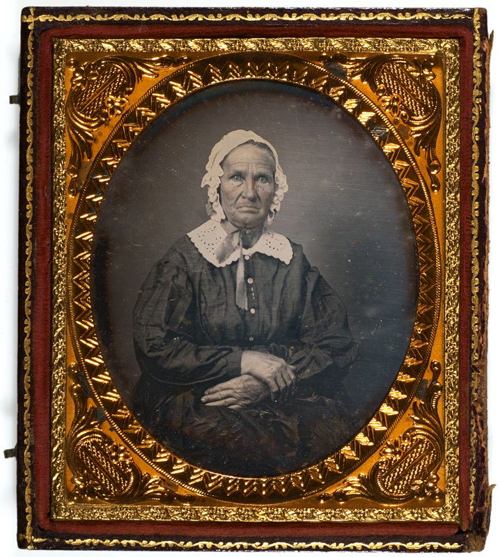 Daguerreotype of an old woman