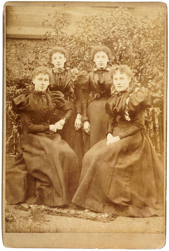 Portrait of four young women