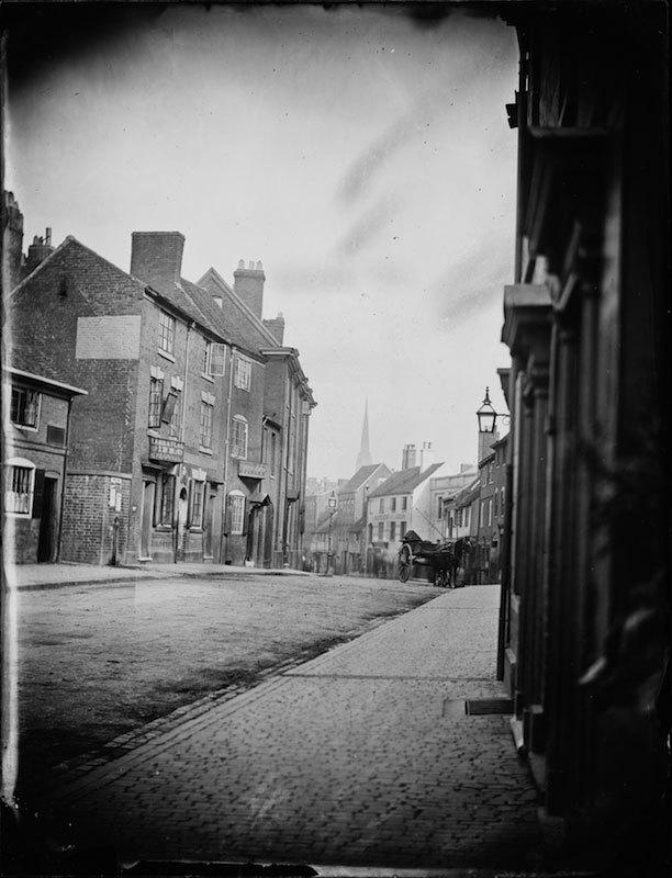Glass negative of Spon Street, Coventry