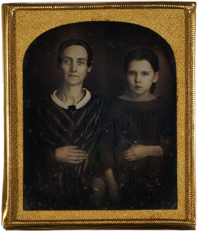 Daguerreotype of a woman and girl
