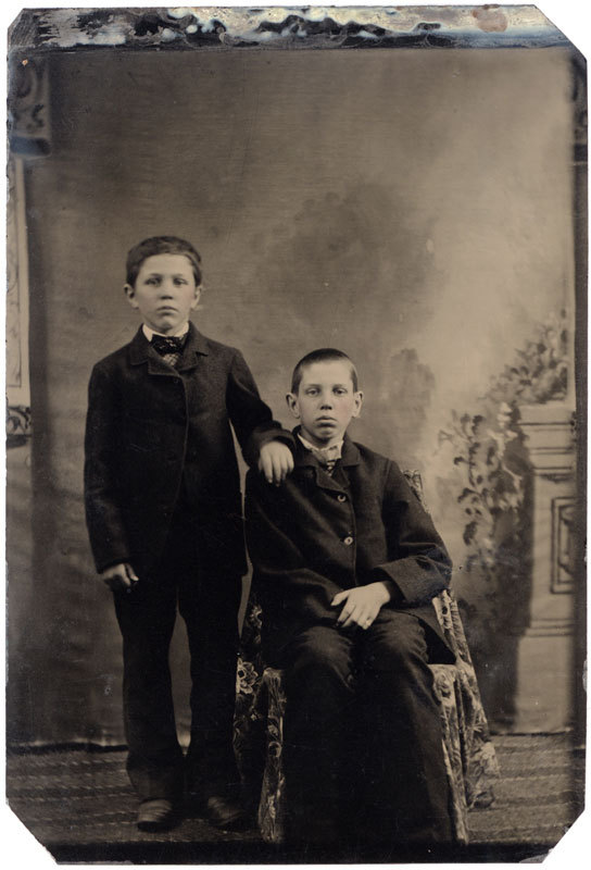 Tintype of two young men