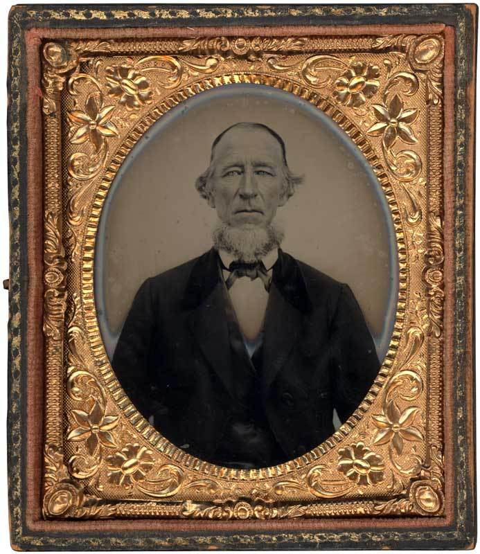 Ambrotype of a bearded older man