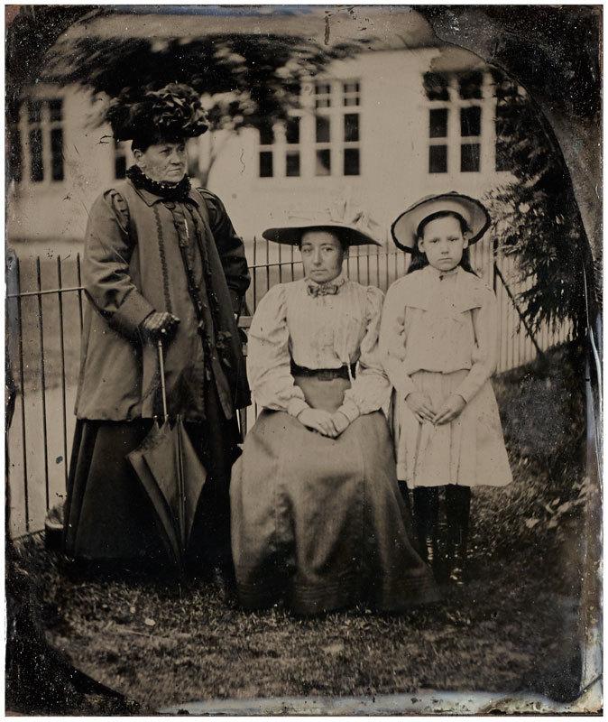 Tintype of three women