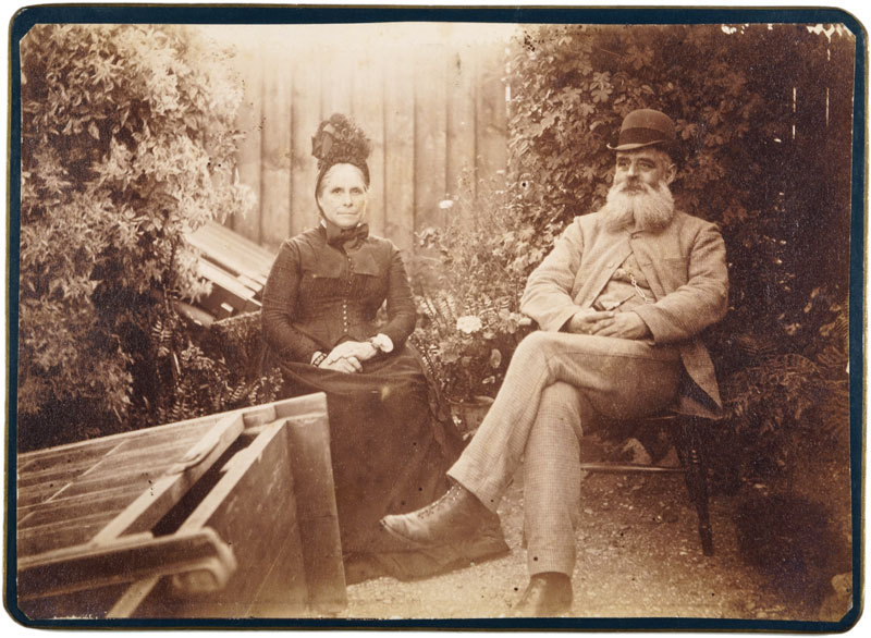 Portrait of a couple sitting outdoors
