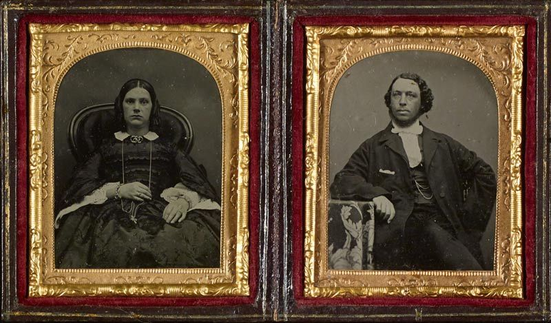 Ambrotypes of a couple