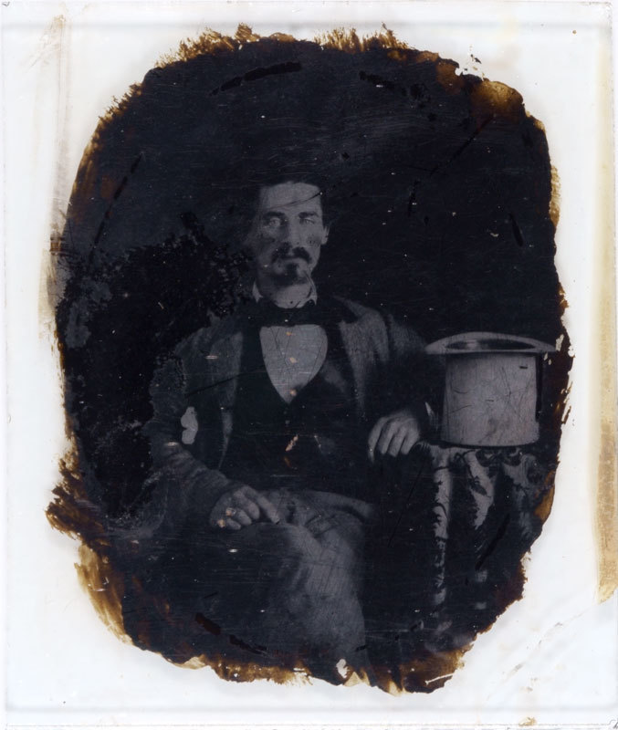 Ambrotype of a man