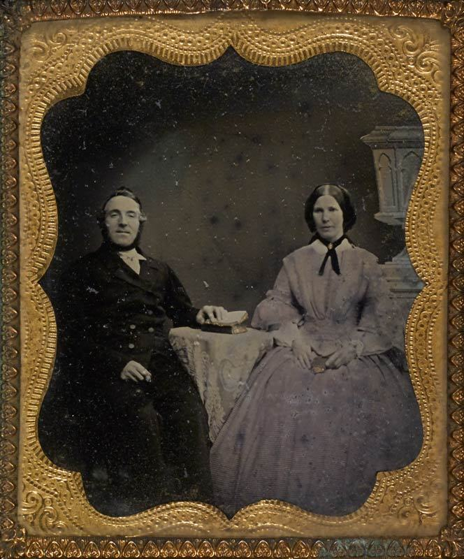 Ambrotype of a young couple