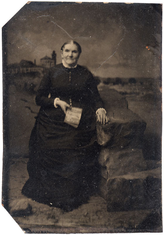 Tintype of an older woman