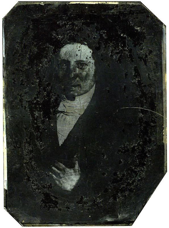 Ambrotype of a painting of a man