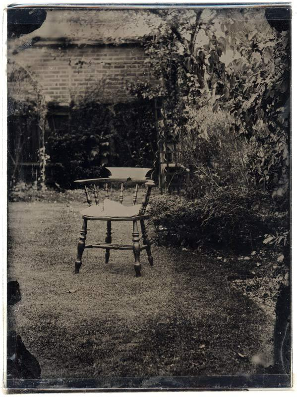 Ambrotype of a chair